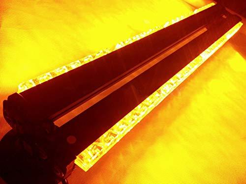Double Side 144W LED Arbeitsleuchte Bar Beacon Licht Warnung blinken Notfall Sicherheit-Strobe Light Amber 61cm