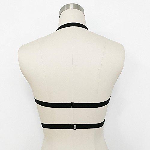 Add Health Damen Pentagramm Harness Strappy Geschirr Pentagramm Knechtschaft BH 116 Black
