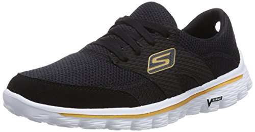Skechers Go Walk 2Stance, Running Entrainement Femme Noir (Bkgd)