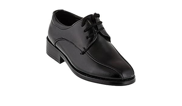 Alizea (Schuh fällt CA 2 NUMMERN GRÖSSER AUS) Boys Lace-Up Flats Black #428 Schnürer Schwarz: Amazon.co.uk: Shoes & Bags
