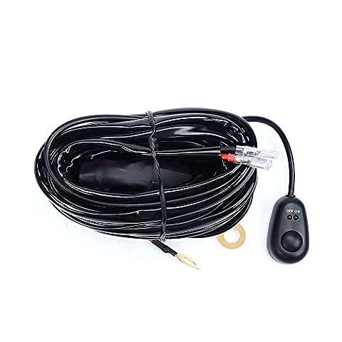 Top-Longer Verkabelung-Kit für Off Road LED Light Bar – 12 V 40 A Relais Sicherung 30 A ON-OFF-Power Schalter - Golf Relè