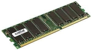 Crucial CL3 Mémoire RAM DDR 1 Go PC3200 400 MHz