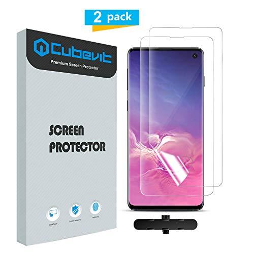 Cubevit Samsung Galaxy S10 Folie, [Lebenslange Ersatzgarantie] [2 Stück] Galaxy S10 Schutzfolie Displayschutz(Nicht Panzerglas), Vollständige Abdeckung Displayschutzfolie für Samsung Galaxy S10