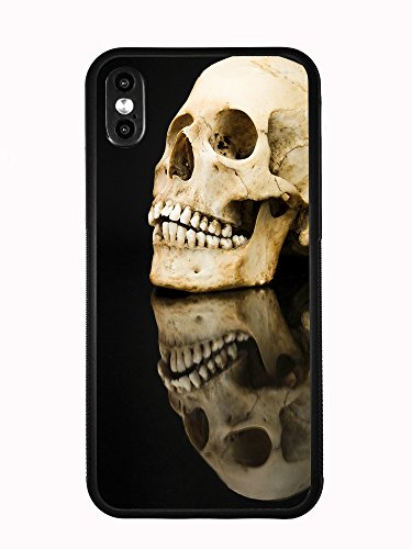 Atomic Market Schutzhülle für iPhone XS MAX 6,5 2018 (Motiv: Dark Evil Skull Reflexion)