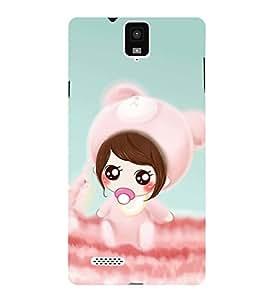 PrintVisa Designer Back Case Cover for Infocus M330 (Chubby girl design :: Beautiful girl design :: Cute design :: Cheerful girl design :: Smiley girl design)