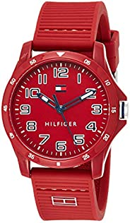 Tommy Hilfiger Men's Red Dial Red Silicone Watch - 179