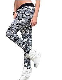 Tongshi Fitness polainas camuflaje mujer elastizada Yoga gimnasio de deportes pantalones (Multicolor, S)