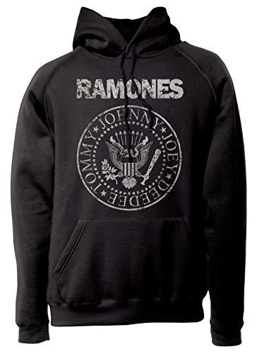 LaMAGLIERIA Sudadera Unisex Ramones Grunge Texture - Sudadera con...