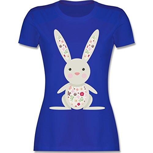 Ostern - Süßer Hase - Frühlingstiere mit Blumen - tailliertes Premium T-Shirt  mit Rundhalsausschnitt