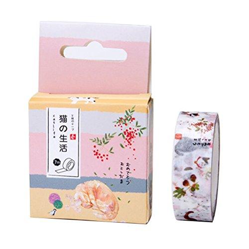 sukisuki Creative Watercolor Papier Washi Tape DIY Album Tagebuch Dekorative Scrapbook Stickers Einheitsgröße 2#