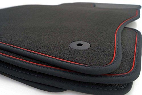 kh Teile Fußmatten (Zierband Rot) 1K 5K Golf Velour Automatten Autoteppich 4-Teilig