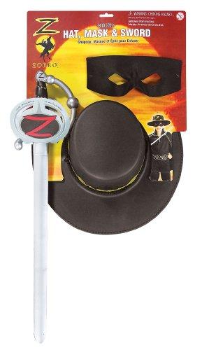 Schwert, Maske und Hut von (Maske Zorro Kostüme)