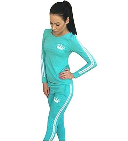 ZEARO trainingsanzüge für Frauen Hosen Sweatshirt Damen Sportwear 2 Stück Set