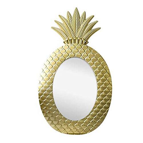 Spiegel-? Bad Oval Wand Gold Harz Ananas Grenze für Schlafzimmer Badezimmer Hotel Rasur - Ananas Grenze