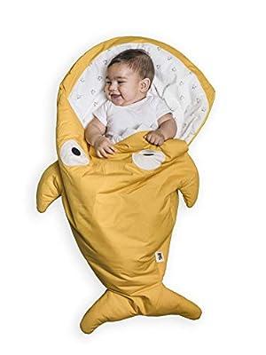 Baby Bites ORIGINAL - Saco de dormir MOSTAZA, estampado POLLITOS - Modelo INVIERNO