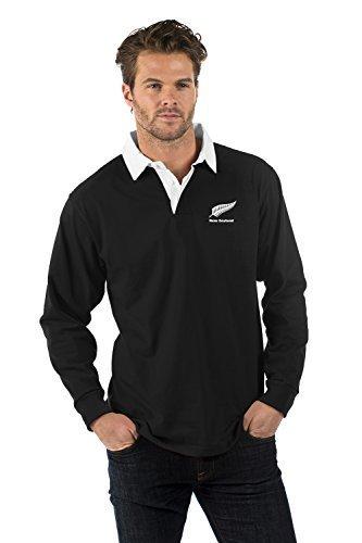 Nuova Zelanda Manica Lunga Rubgy Camicia - New Zealand Long Sleeve Rugby Shirt - Uomo (Nuova Zelanda Rugby Shirts)