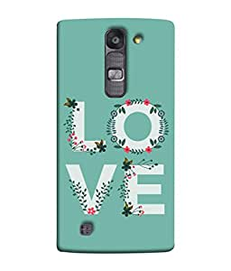 LG G4 Mini, LG G4c, LG G4c H525N Back Cover Love Design With Green Floral Background Design From FUSON