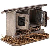 KESOTO 1/12 Miniaturas Simulación Pollo Coop Decoración para Casa de Muñecas ...