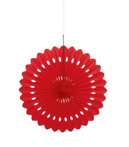 Unique Party 64265 - Rosace en Papier de Soie Rouge (40 cm)
