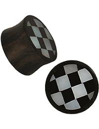 Orgánica Sonoholz Plug tablero de ajedrez de la perla de resina negro tribal