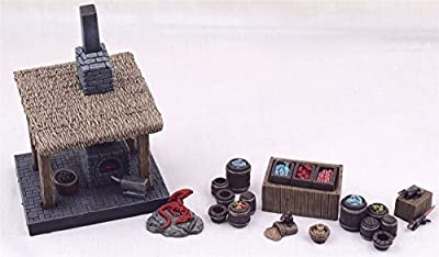 wws Blacksmith Forge & Street Market mis en Place Medieval, Fantasy, Diorama, Wargames