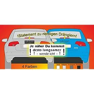 16 * 5 cm Farzeug Aufkleber, KFZ Aufkleber Sticker gegen Drängler