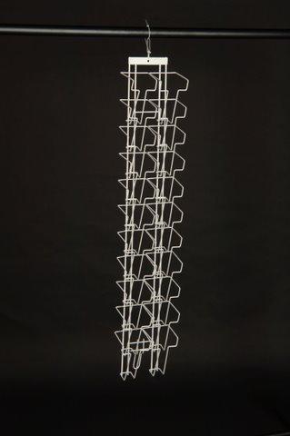 Prospekthalter A6 Langformat (=ein Drittel A4) mit 22 Fächern für Wandmontage
