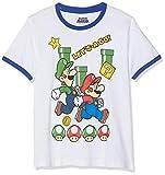 SUPER MARIO BROS 6592 T- T-Shirt, Blanc, (Taille Fabricant:14 Ans) Garçon
