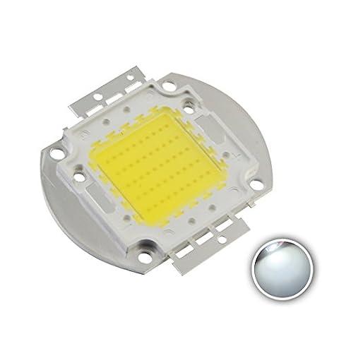 Chanzon High Power Led Chip 50W White (6000K-6500K / 1500mA / DC 30V-34V / 50 Watt) Super Bright Intensity SMD COB Light Emitter Components Diode 50 W Bulb Lamp Beads DIY