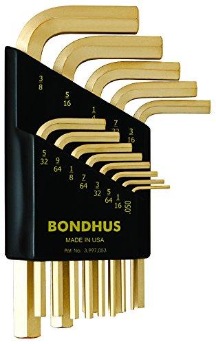 Bondhus Set di chiavi angolo esagonale Gold Guard hlx13sg, 13pezzi-corta, 38237 - Chiave Esagonale 13 Pezzo