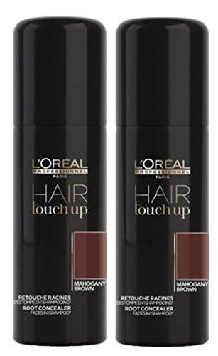 Set di 2 correttori per capelli professionali con funzione Touch Up mogano marrone 75 ml