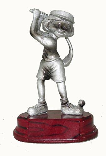 Lustige Golf Pokale 65117 mit oder ohne Gravur, Golf Figuren Suklptur (Awards W 14cm) -