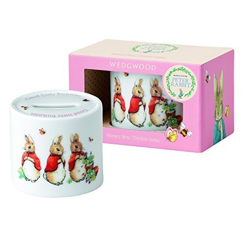 Peter Rabbit Wedgwood (Wedgwood Girl's Peter Rabbit Money Box, White and Pink by Wedgwood)