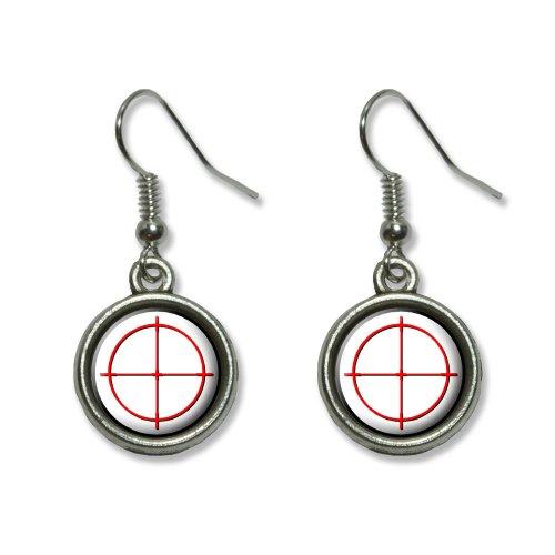 Sniper Zielfernrohr Target Neuheit Dangling baumeln Drop Charm-Ohrringe