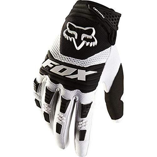 Fox Dirtpaw Race Gloves - Motorrad MTB Handschuhe Herren Damen, Weiß, M