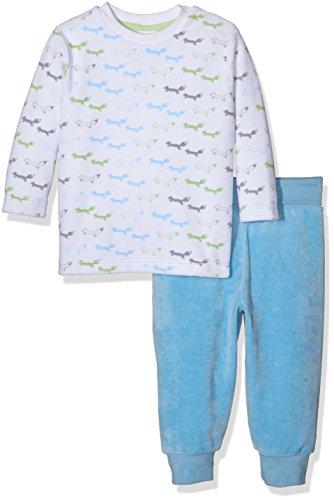 Sanetta Baby-Jungen Zweiteiliger Schlafanzug 221271, Weiß (White 10), 86