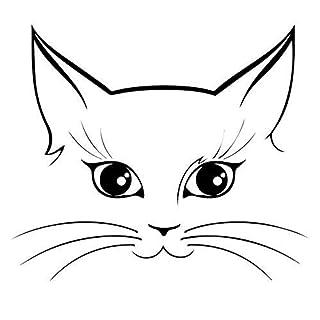 zqyjhkou Wandtattoo Abnehmbare Klebrige Vinyl Schöne Haustier Katze Gesicht Auto Aufkleber Kreative Motorrad Autofenster Dekorative Accessoires 84x98 cm