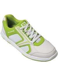 Brunswick Spark - Zapatos de bolera para mujer, color blanco y verde blanco y verde lima Talla:39.5