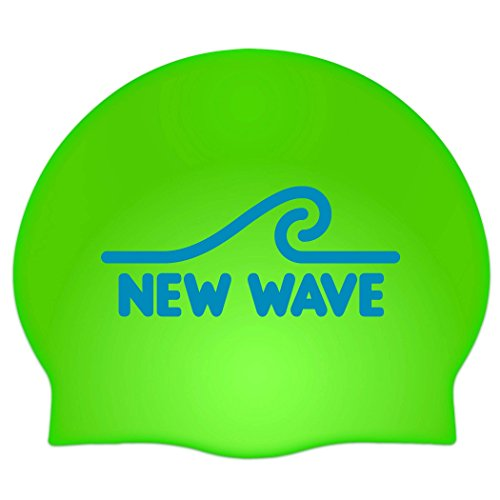 Wave Pool Float (New Wave Swim Buoy Silicone Swim Cap (Green))