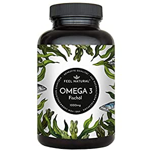 Omega 3 Fischöl EPA + DHA + Vitamin E Kapseln
