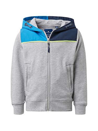 en Strick & Sweatshirts Sweatjacke mit farblich abgesetzter Kapuze Drizzle Melange|Gray, 92/98 ()