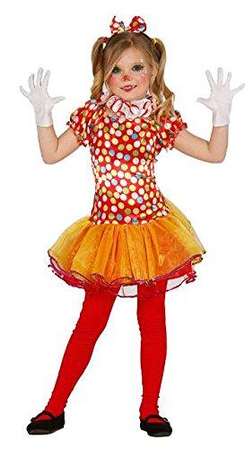 Generique - Déguisement Clown Multicolore avec Tutu Fille 5...