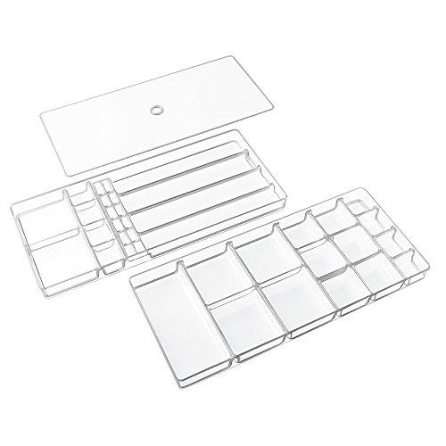 Der Kosmetik-schrank Tür, über (InterDesign Linus 2-stöckiger Schmuckkasten, Schrank- und Schubladen-Organizer für Halsketten, Armbänder, Ringe, Ohrringe, Broschen, Haar-Schmuck - Groß)