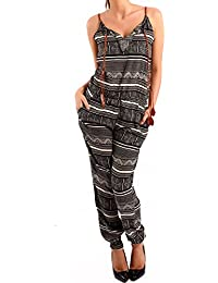 Young-Fashion Damen Overall Jumpsuit Gemustert