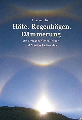 Höfe, Regenbögen, Dämmerung: Die atmosphärischen Farben und Goethes Farbenlehre (Farben Kühlen Die)