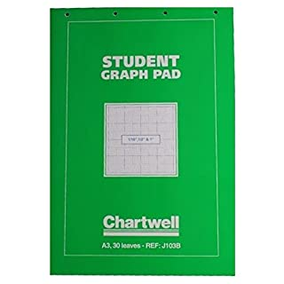Chartwell A3 Green Student Graph Pad 50 Sheets (1/10