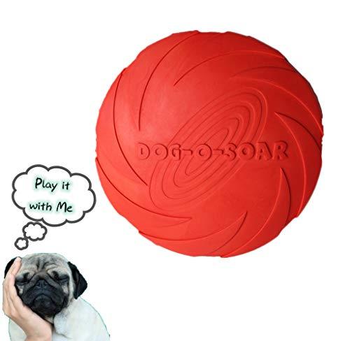 Dog Disc Frisbee natürlich Soft Rubber Flyer Hundespielzeug Interaktives Fetch Play Toy Outdoor für Chew Safety (Farbe zufällig) -