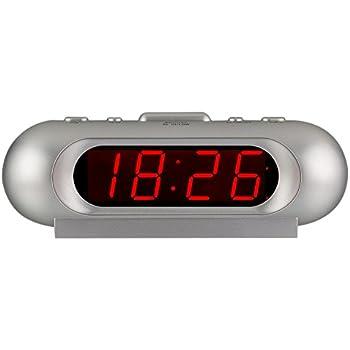 Orologio da Camera a Batteria Alimentato Timegyro Sveglia Digitale per dormiglione