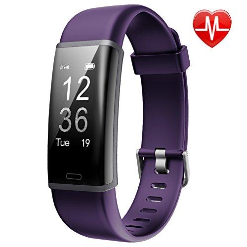 Fitness Tracker HR Lintelek Aktivität Tracker fitness armband mit integrierter Herzfrequenzmessung am Handgelenk IP67 Wasserdicht fitness uhr mit GPS Schlaftracker Kalorienzähler