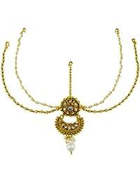 Banithani dorado bollywood Matha Patti fiesta de bodas indias usan joyería tradicional